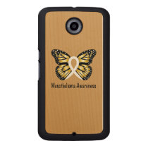 Mesothelioma Awareness Butterfly Wood Phone Case