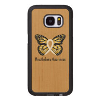 Mesothelioma Awareness Butterfly Wood Samsung Galaxy S7 Case