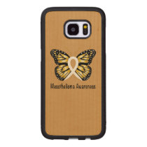 Mesothelioma Awareness Butterfly Wood Samsung Galaxy S7 Edge Case
