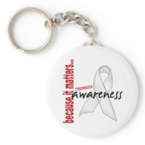 Mesothelioma Awareness Keychain