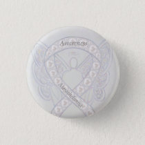 Mesothelioma Awareness Ribbon Angel Custom Button