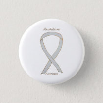 Mesothelioma Awareness Ribbon Custom Button