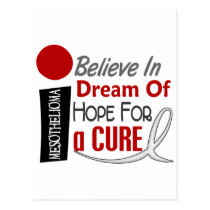 Mesothelioma BELIEVE DREAM HOPE Postcard