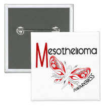 Mesothelioma Butterfly 3.1 Pinback Button