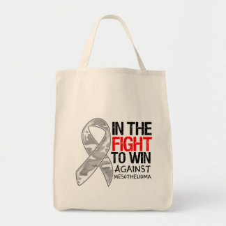 Mesothelioma Cancer - Fight To Win Tote Bag