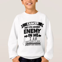 Mesothelioma Cancer Met Its Worst Enemy in Me Sweatshirt