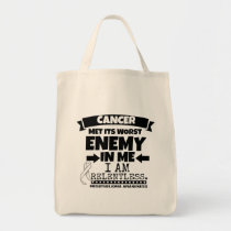 Mesothelioma Cancer Met Its Worst Enemy in Me Tote Bag