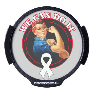 Mesothelioma Cancer Rosie The Riveter We Can Do It LED Car Window Decal