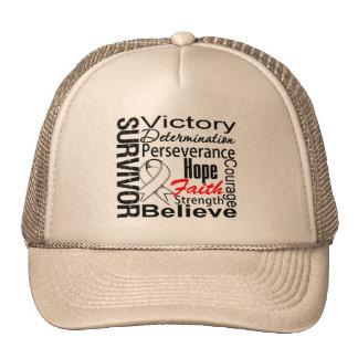Mesothelioma Cancer Survivor Collage Trucker Hat