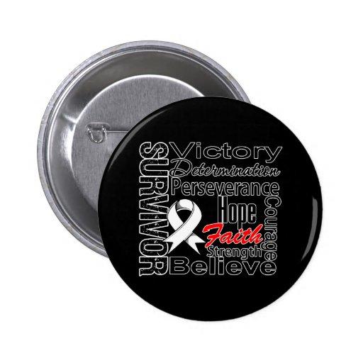 Mesothelioma Cancer Survivor Collage Pin