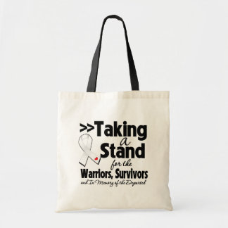 Mesothelioma Cancer Taking a Stand Tribute Canvas Bag
