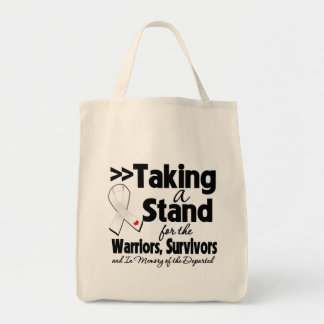 Mesothelioma Cancer Taking a Stand Tribute Canvas Bags