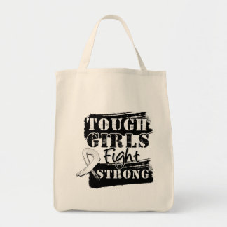 Mesothelioma Cancer Tough Girls Fight Strong Tote Bag