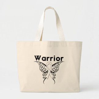 Mesothelioma Cancer Warrior Tribal Butterfly Canvas Bag
