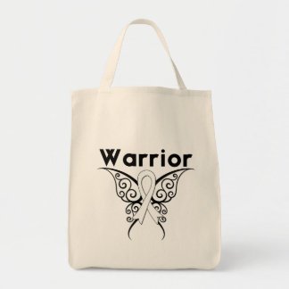 Mesothelioma Cancer Warrior Tribal Butterfly Bags