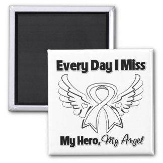 Mesothelioma Every Day I Miss My Hero Fridge Magnets