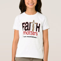 Mesothelioma Faith Matters Cross 1 T-Shirt