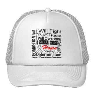 Mesothelioma Fight Persevere Overcome Win Trucker Hat
