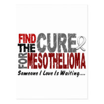 Mesothelioma FIND THE CURE 1 Postcard