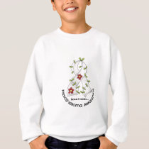 Mesothelioma Flower Ribbon 1 Sweatshirt