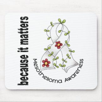 Mesothelioma Flower Ribbon 3 Mouse Pad
