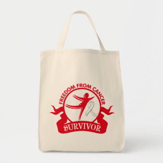 Mesothelioma - Freedom From Cancer Survivor Canvas Bags