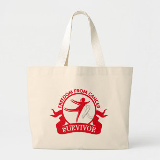 Mesothelioma - Freedom From Cancer Survivor Canvas Bag
