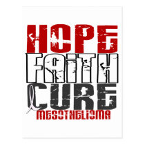 Mesothelioma HOPE FAITH CURE 1 Postcard
