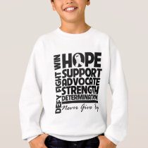 Mesothelioma Hope Support Advocate Sweatshirt
