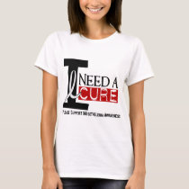 Mesothelioma I NEED A CURE 1 T-Shirt