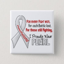 Mesothelioma I Proudly Wear Pearl Pinback Button