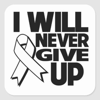 Mesothelioma I Will Never Give Up.png Square Sticker