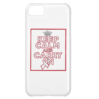 Mesothelioma Keep Calm and Carry ON iPhone 5C Covers