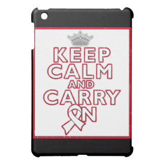 Mesothelioma Keep Calm and Carry ON Case For The iPad Mini
