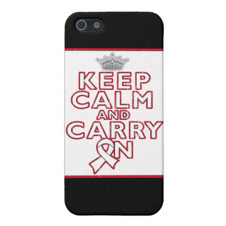 Mesothelioma Keep Calm and Carry ON iPhone 5 Covers