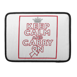 Mesothelioma Keep Calm and Carry ON MacBook Pro Sleeves