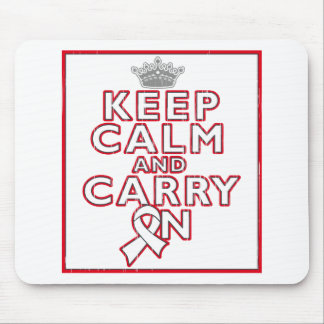 Mesothelioma Keep Calm and Carry ON Mousepads