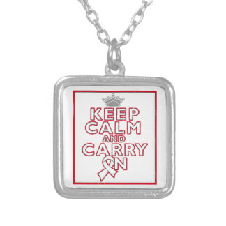 Mesothelioma Keep Calm and Carry ON Custom Jewelry