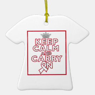 Mesothelioma Keep Calm and Carry ON Christmas Tree Ornaments