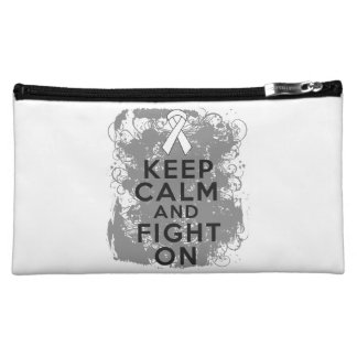 Mesothelioma Keep Calm and Fight On Cosmetic Bags