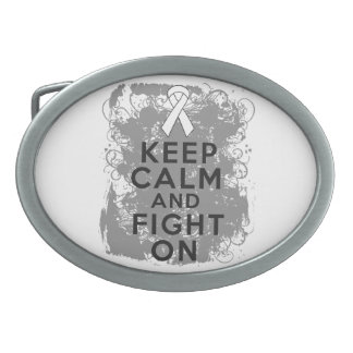 Mesothelioma Keep Calm and Fight On Belt Buckle