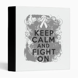 Mesothelioma Keep Calm and Fight On 3 Ring Binder