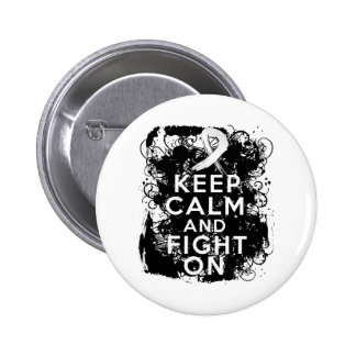Mesothelioma Keep Calm and Fight On Pinback Buttons