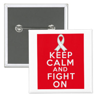 Mesothelioma Keep Calm and Fight On Pins
