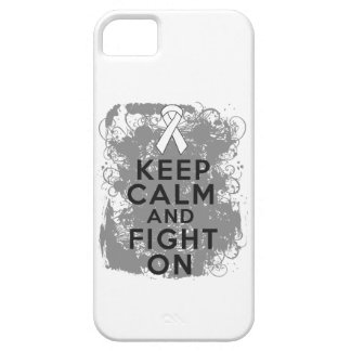 Mesothelioma Keep Calm and Fight On iPhone 5 Cases