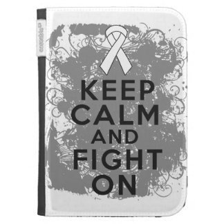Mesothelioma Keep Calm and Fight On Kindle Keyboard Cases
