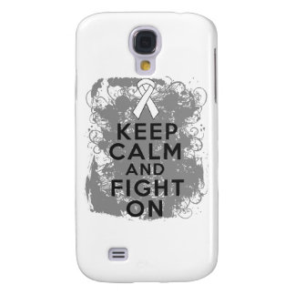 Mesothelioma Keep Calm and Fight On Samsung Galaxy S4 Cover