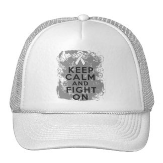 Mesothelioma Keep Calm and Fight On Trucker Hat
