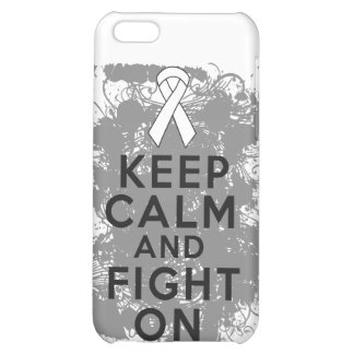 Mesothelioma Keep Calm and Fight On iPhone 5C Cases