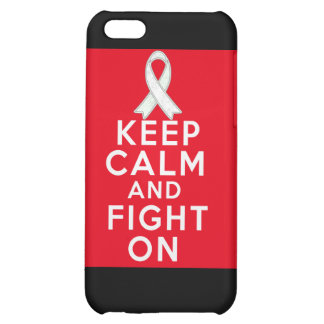Mesothelioma Keep Calm and Fight On Cover For iPhone 5C